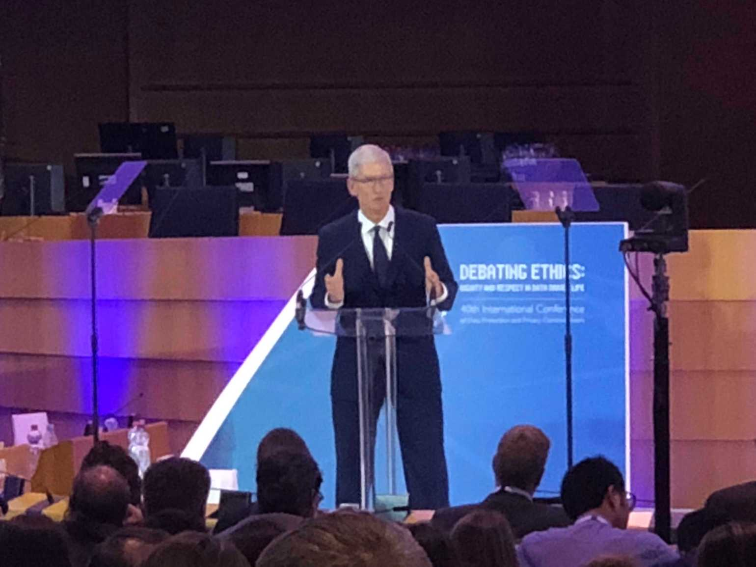 Tim Cook at the 40th Annual Conference of Data Protection Comissioners