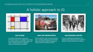 A holistic approach to IG - Information Governance Perspectives