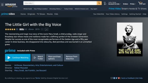 The Little Girl with the Big Voice on Amazon