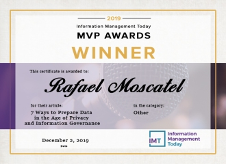 1st place in our 2019 Information Management Today MVP Awards